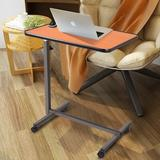 Rebrilliant Mckinsey Overbed Rolling Laptop TrayMetal/Manufactured Wood in Brown/Orange, Size 44.0 H x 26.5 W x 16.5 D in   Wayfair