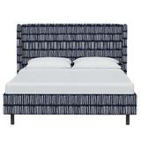 AllModern Kylie Upholstered Low Profile Platform Bed Upholstered/Polyester/Polyester blend in White, Size 77.0 W x 88.0 D in | Wayfair