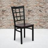 Winston Porter Chafin Metal Ladder Back Dining Chair in Black Powder CoatPlastic/Acrylic/Upholstered/Metal, Size 36.5 H x 16.5 W x 16.5 D in Wayfair