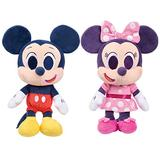 Disney Junior Music Lullabies 9-Inch Mickey Mouse & Minnie Mouse 2-Piece Plush Set, Kids Toys 3 and Up, Amazon Exclusive, by Just Play