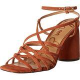 Sam Edelman Women's Daffodil Shoes Heeled Sandal, Orange, 6 Wide