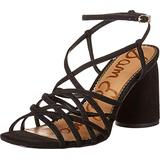 Sam Edelman Women's Daffodil Shoes Heeled Sandal, Black, 7.5 Wide