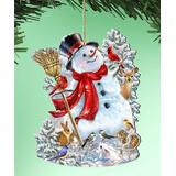 G. DeBrekht Ornaments Multi - White Snowman Wood Ornament - Set of Two