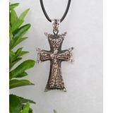 Ottoman Silver Collection Women's Necklaces - Sterling Silver Hammered Cross Pendant Necklace
