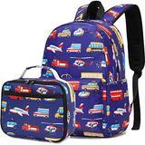 CAMTOP Boys Backpack for School, Kids Backpack with Lunch Box for Preschool Kindergarten BookBag Set (Y0065-2 Blue)