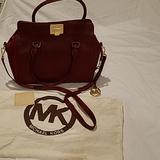 Michael Kors Bags   New Michael Kors Satchel Tote Handbag Red Leather   Color: Gold/Red   Size: Os