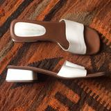 Anthropologie Shoes   Bandolino Low Block Heels Us 7.5   Color: White   Size: 7.5