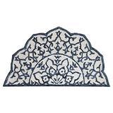 """Lr Home Modern Mosaic Medallion Hearth Rug, Blue/White, 2'3"""" x 3'10"""" Hearth"""