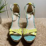 Nine West Shoes | Nine West Joker Wedge Sandal|Women'S Size 8.5m | Color: Green/Yellow | Size: 8.5