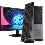 """Dell OptiPlex 7010 Desktop PC Computer, Intel i5-3470 3.2GHz, 16GB RAM, 2TB HDD, Windows 10 Pro, New 23.6"""" FHD LED Monitor, Wireless Keyboard & Mouse, New 16GB Flash Drive, DVD, Wi-Fi (Renewed)"""