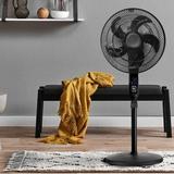 Zenova 2 in 1 Height Adjustable Oscillating Pedestal/Standing Fan in Black, Size 70.0 H x 16.73 W x 16.73 D in | Wayfair MA-EF005
