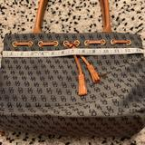 Dooney & Bourke Bags | Dooney & Bourke Small Tote. Euc. Navy And Brown. | Color: Blue/Tan | Size: Os
