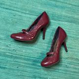 American Eagle Outfitters Shoes | American Eagle 6 Maroon Pumps W Strap | Color: Purple/Red | Size: 6