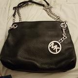 Michael Kors Bags | Michael Kors Black Leather Shoulder Bag | Color: Black | Size: Os