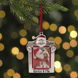 Northlight Seasonal Santa & Me Photo Frame Christmas Hanging Figurine Ornament Metal in Red/White, Size 3.5 H x 0.25 W x 2.75 D in | Wayfair
