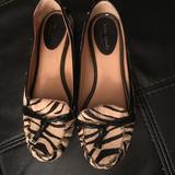 Kate Spade Shoes | Kate Spade Animal Print Flats Moccasins | Color: Black/White | Size: 7