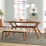 Mercury Row® Gambill Trestle Dining Table Wood in Brown, Size 30.25 H x 72.0 W x 42.0 D in | Wayfair D9D886F9E4D0466187164D1ACC6887CC