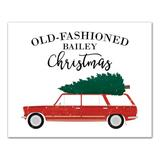 Christmas Personalized Car Canvas - Grandin Road