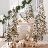 Christmas Pre-Lit Flocked Alpine Tree - 4' - Grandin Road