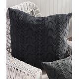 Porch & Petal Throw Pillows DISTRESSED - Distressed Denim Blue Textured Hollyn Throw Pillow