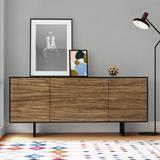 "Latitude Run® 71"" Wide 3 Drawer Buffet Table Wood in Black/Brown, Size 31.0 H x 71.0 W x 18.0 D in | Wayfair 0A590D0D99C04493B4071211E4F12976"