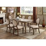 One Allium Way® Malmberg 7 - Piece Dining Set Wood in Brown, Size 30.0 H in | Wayfair 0D050024C49448FD848E2AA0BC0806DC