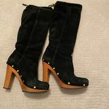 Tory Burch Shoes   Authentic Suede Tory Burch Boots   Color: Black   Size: 8.5