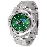 SunTime Men's Tulane University Green Wave Sport Steel Anochrome Dial Watch Watch