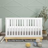 Baby Mod Olivia 3-in-1 Convertible Crib Wood in White/Brown, Size 35.0 H x 31.125 W x 52.125 D in | Wayfair W6901WN