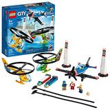 LEGO City Air Race 60260 Flying Helicopter & Airplane Toy, Features 2 Ripcord Helicopters, Stunt Plane Aircraft Toy, 2 Pylons, Plus Rivera, Xtreme and Vitarush Pilot Minifigures, New 2020 (140 Pieces)