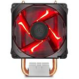 Cooler Master Hyper H410R CPU Cooler - Compact Tower Cooler with 4 CDC Heatpipes, 92mm Red LED PWM Fan, for AMD Ryzen AM4 / Intel LGA115x