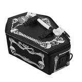 TENDYCOCO Shoulder Bag with Skull Coffin Casket Shaped Clutch with Chain Strap Gothic Purse for Women