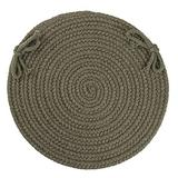 """Luxury Sage Green Braided Chair Pads Set of 4 with Ties Simple Circle Chair Cushions Pads Round Shaped Patios Dining Room Seat Pad Reversible Country Rustic Farmhouse Table Decor Soft Wool, 15""""x15"""""""