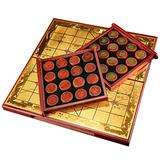 Tyoo Chinese Xiangqi Chess Set with Folding Board, Classic Educational Strategy Board Games for 2 Players (Color : RED)
