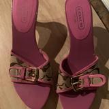 Coach Shoes | Coach Sandals | Color: Brown/Pink | Size: 6
