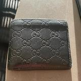 Gucci Bags | Gucci Leather Bifold Wallet | Color: Black | Size: Os