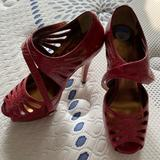Jessica Simpson Shoes   Jessica Simpson Red Peep Toe Heels. Size 6 12   Color: Red   Size: 6.5