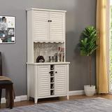 Home Source DC10 WG AMV Bar Cabinet, Antique White