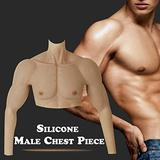 WZWTYN Artificial Silicone Male Chest Muscle Half Body Realistic Fake Muscle Belly Body for Cosplayers Makeup Halloween Props Male Shaper Stronger