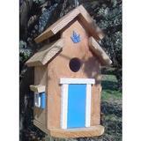 Bird Houses by Mark Cedar Cottage Bird House, Blue