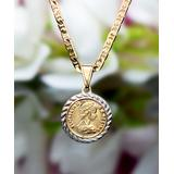 Sevil Designs Women's Necklaces Gold/White - 18k Gold-Plated Coin Pendant Necklace