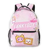 Casual Cute_Lankybox School Bags For Girls&Boys College School Kids Computer Bag Daypacks
