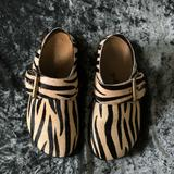 Free People Shoes | Free People Seattle Clog Zebra 36 Size 6 | Color: Black/Yellow | Size: 6