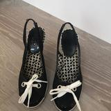 Coach Shoes   Coach Wedge Closed Toes Sling Back Shoes.   Color: Black/White   Size: 7.5