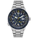 Citizen Eco-Drive Promaster Nighthawk Quartz Mens Watch, Stainless Steel, Pilot watch, Two-Tone (Model: BJ7006-56L)