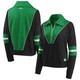 Women's WEAR by Erin Andrews Black Boston Celtics Colorblocked Half-Zip Jacket