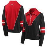 Women's WEAR by Erin Andrews Black Houston Rockets Colorblocked Half-Zip Jacket