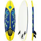 Costway 6' Surf Foamie Boards Surfing Beach Surfboard-Yellow
