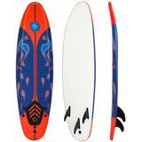 Costway 6' Surf Foamie Boards Surfing Beach Surfboard-Red