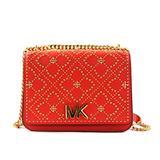 Michael Kors Women's Istanbul Mott Leather Large Chain Shoulder Bag Purse Handbag (Coral Reef)
